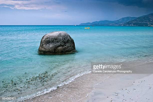 rock in the sea - daniele carotenuto stock pictures, royalty-free photos & images