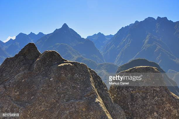 "rock known as ""model of machu picchu"" - ""markus daniel"" stock pictures, royalty-free photos & images"