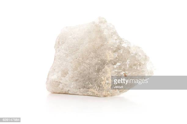 rock mineral macro photo with white background - quartzo - fotografias e filmes do acervo