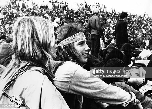 Photo of FESTIVALS and HIPPIES and 60's STYLE and ALTAMONT FESTIVAL Hippy fans at the Altamont Festival