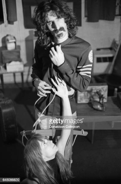 Rock musician and composer Frank Zappa and his wife Gail pose for a portrait session for the cover of the album Absolutely Free at home in 1967 in...
