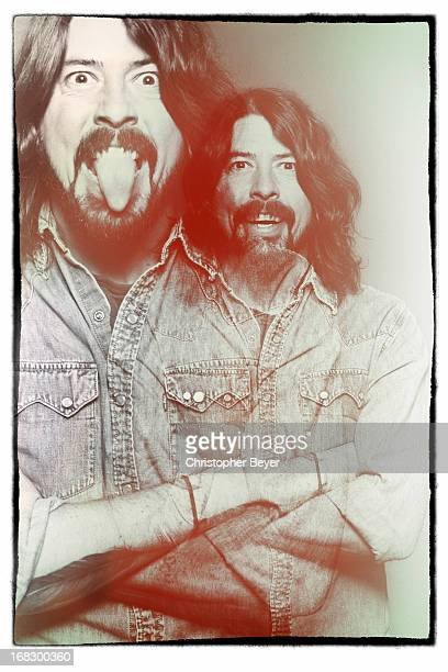 Rock musician and former drummer for Nirvana Dave Grohl is photographed at the Sundance Film Festival for Entertainment Weekly Magazine on January 24...
