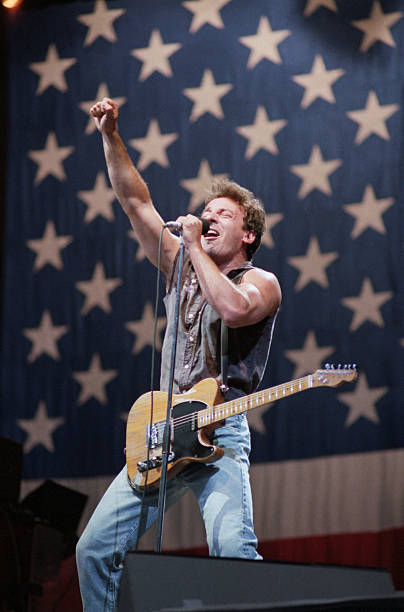 Bruce Springsteen Singing on Stage
