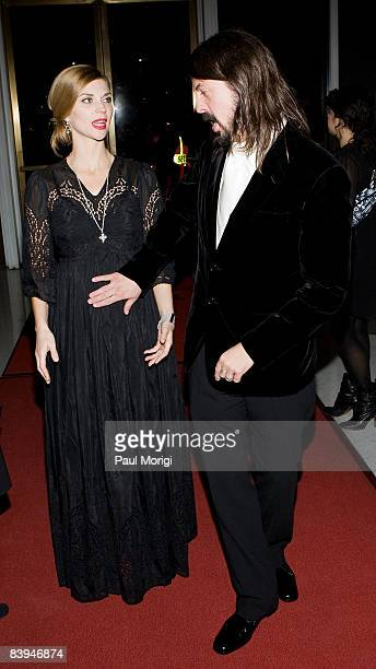 Rock musician Dave Grohl of the Foo Fighters and his wife Jordyn Grohl arrive at the 31st Annual Kennedy Center Honors at the Hall of States inside...