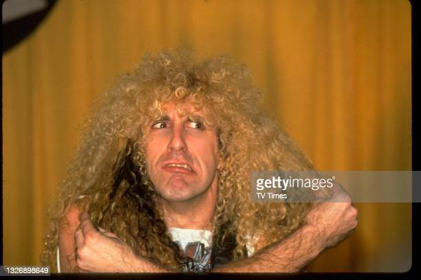 Rock musician Dee Snider, best known as vocalist with heavy metal group Twisted Sister, photographed at the 27th Annual Grammy Awards at the Shrine...