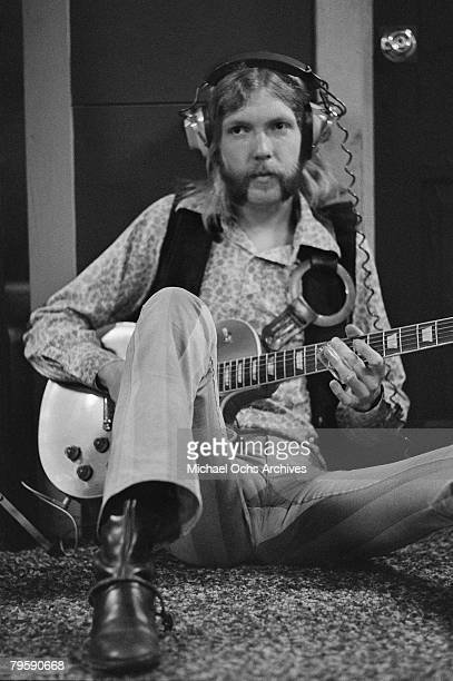 Rock musician Duane Allman waits to lay down a track on September 23 1969 in Muscle Shoals Alabama