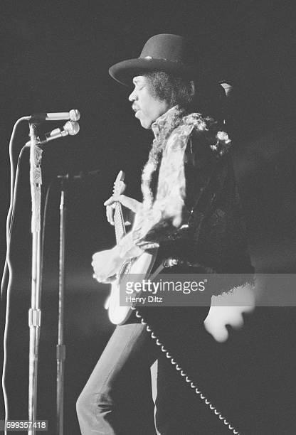 Rock Musician Jimi Hendrix in Concert