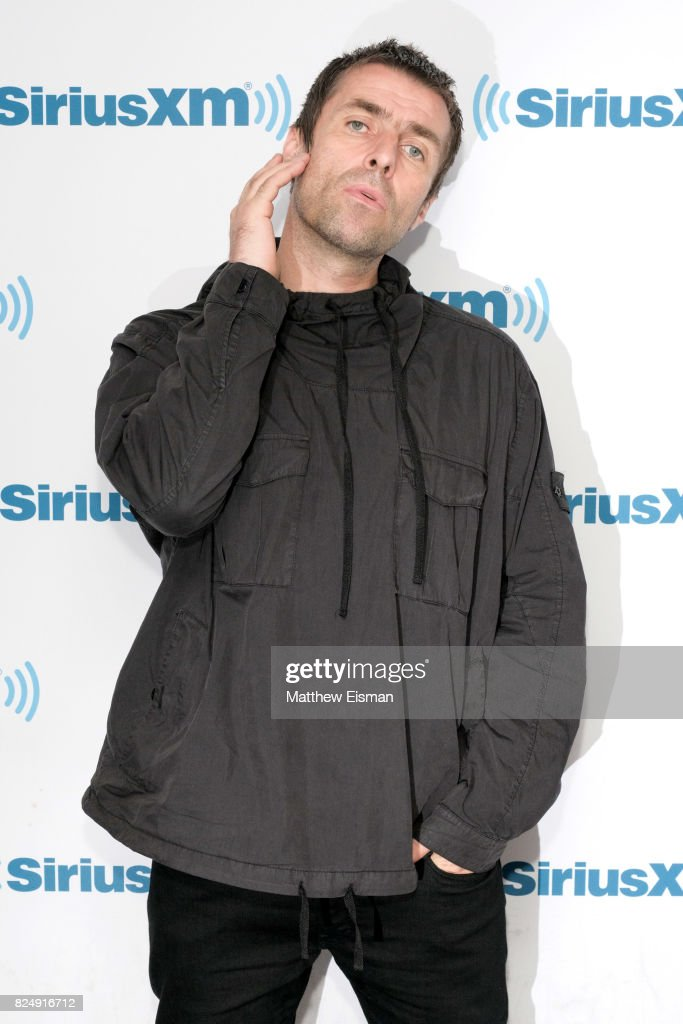 Rock musician Liam Gallagher visits SiriusXM Studios on July 31, 2017 in New York City.