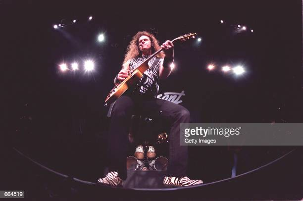 Rock musician Ted Nugent performs at the HSBC arena, in