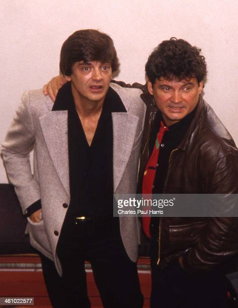Rock 'n' roll and country artists The Everly Brothers at a Press Reception to launch their reunion tour at BAFTA Piccadilly on September 19 in London...
