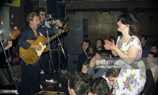 Rock 'n' Roll artist Charlie Gracie performs at The Royalty, on September 24, 1981 in Southgate, London, England.