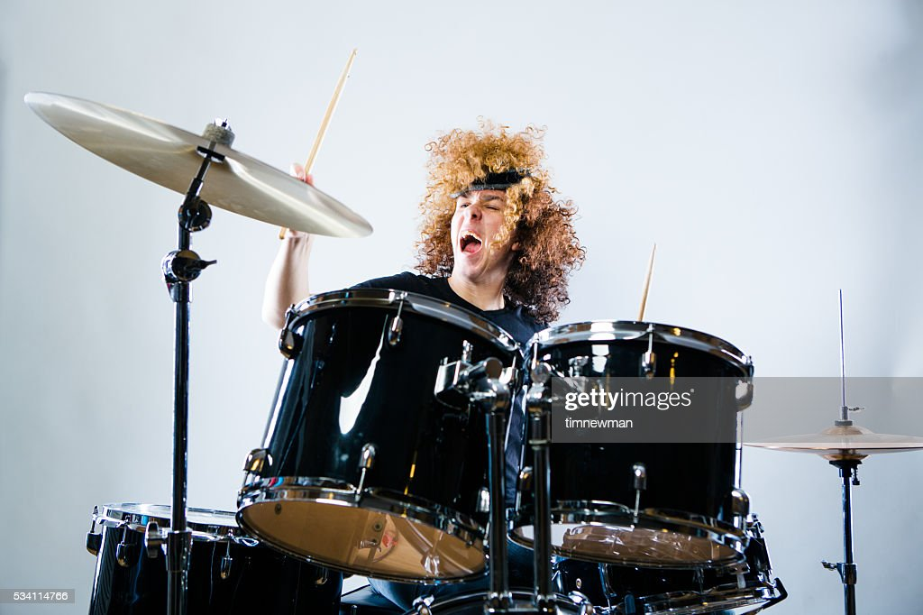 Rock n Roll Drummer : Stock Photo