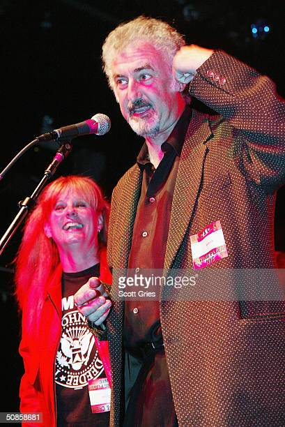 Rock N Roll High School director Allan Arkush and actress PJ Soles on stage during Life's A Gas at The Annual Joey Ramone Birthday Bash on May 19...