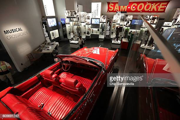 Rock 'n' Roll legend Chuck Berry's candyapple red 1973 Cadillac Eldorado is on display in the Musical Crossroads section of the fourth floor Culture...