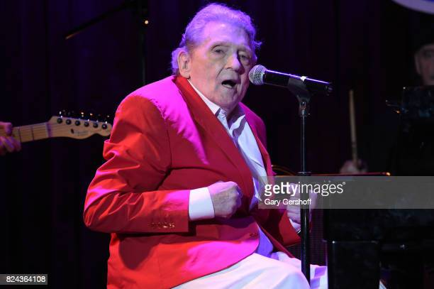 Rock 'n' Roll legend Jerry Lee Lewis performs on stage at BB King Blues Club Grill on July 29 2017 in New York City