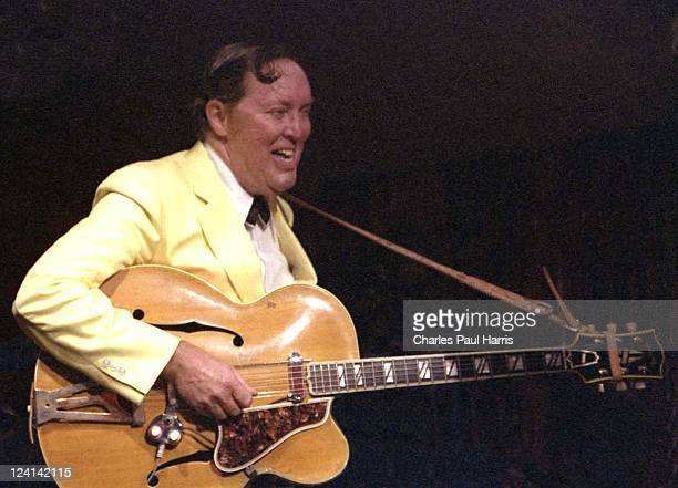 Rock 'N' Roll pioneer Bill Haley performs live at the Royalty in Southgate on March 8 1979 in London England