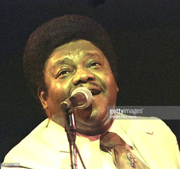 Rock 'n' Roll / Rhythm & Blues singer and pianist Fats Domino performs at the Hammersmith Odeon on April 20, 1981 in London, England.