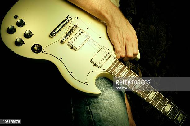 Rock 'n' roll white guitar