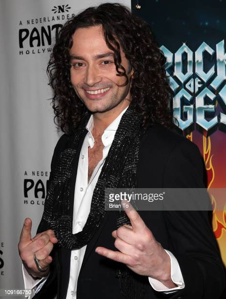 'Rock Of Ages' star Constantine Maroulis attends 'Rock Of Ages' Los Angeles opening night at the Pantages Theatre on February 15 2011 in Hollywood...
