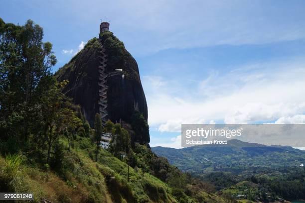 rock of guatapé, el peñon de guatapé, surroundings, colombia - guatapé stock pictures, royalty-free photos & images