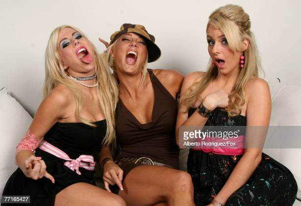 Rock of Love TV personalities Brandi C Heather Chadwell and Kristia Krueger pose for a portrait during the 2007 Fox Reality Channel Really Awards...