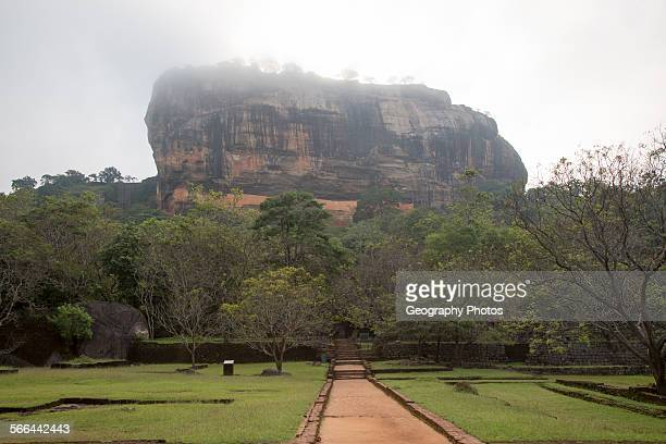 Rock palace and water gardens at Sigiriya Central Province Sri Lanka Asia