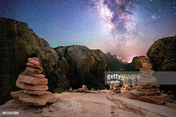 Rock piles, Angel's Landing, Zion National Park, Utah, America, USA