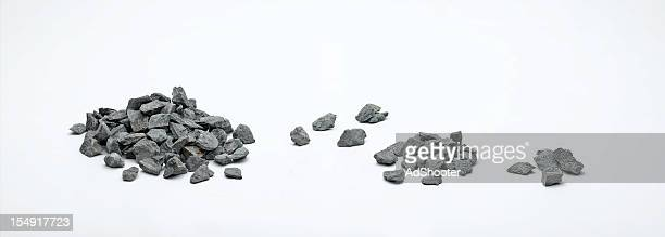 rock piles - gravel stock pictures, royalty-free photos & images