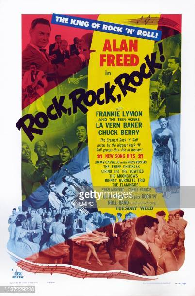 Rock poster US poster art Alan Freed Frankie Lymon and the Teenagers Teddy Randazzo Tuesday Weld LaVern Baker 1956