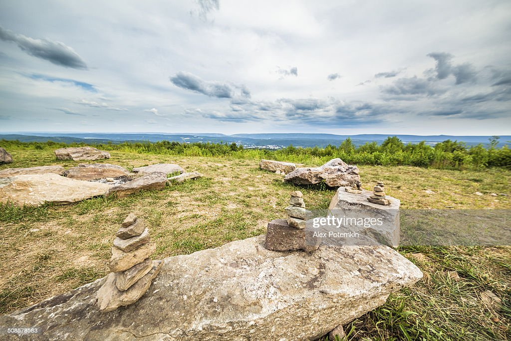 Rock Pyramids at Flagstaff Mountain Park, Pennsylvania  : Stockfoto