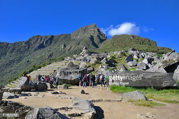 """rock quarry in machu picchu, peru - """"markus daniel"""" stock pictures, royalty-free photos & images"""