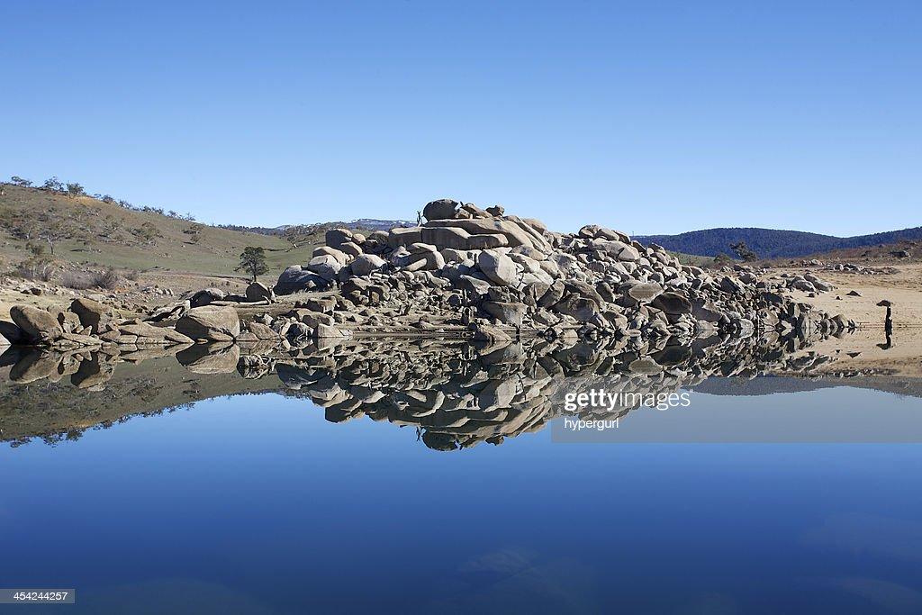 Rock Reflections Mirror Image : Stock Photo