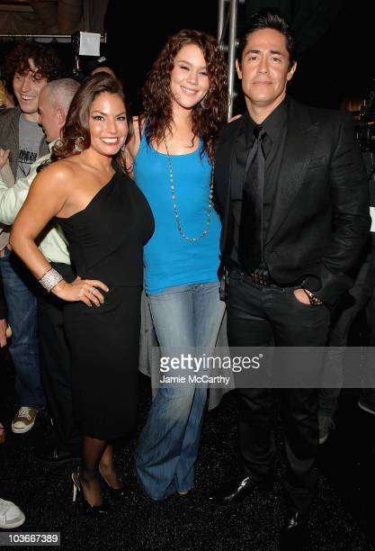 Rock & Republic Designers Andrea Bernholtz and Michael Ball with Joss Stone attend The Rock & Republic fall 2008 during Mercedes-Benz Fashion Week at...
