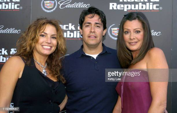 Rock Republic owner Andrea Bernholtz and designer Michael Ball with Tish Rourke of Bravo TV series Blow Out