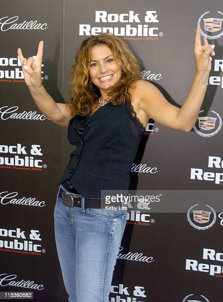 Rock Republic owner Andrea Bernholtz during Rock Republic Blow Out Screening Party at Pearl Lounge in West Hollywood CA United States
