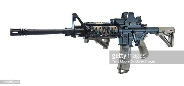 rock river arms ar-15 rifle. - ar 15 stock pictures, royalty-free photos & images