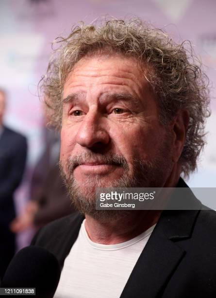 """Rock & Roll Hall of Fame inductee Sammy Hagar is interviewed during the 24th annual Keep Memory Alive """"Power of Love Gala"""" benefit for the Cleveland..."""
