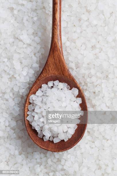 Rock Sea Salt In Spoon