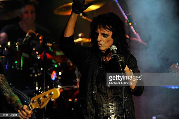 Rock singer Alice Cooper performs live on his 'No More Mr Nice Guy' tour at the Whisky A GoGo on the Sunset Strip on September 15 2011 in West...