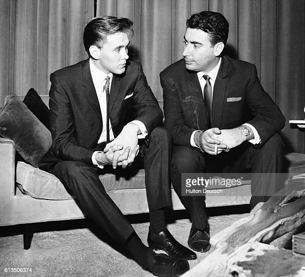 Rock singer Billy Fury with his manager Larry Parnell