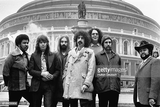 Rock singer Frank Zappa at the Royal Albert Hall with The Mothers of Invention