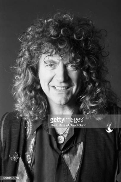 Rock Singer Robert Plant poses for a portrait in April 1990 in New York City New York