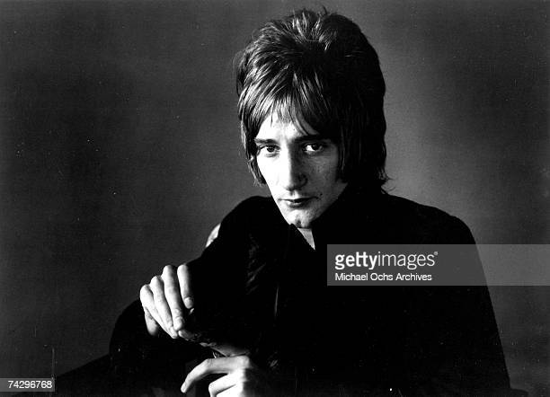 Rock singer Rod Stewart poses for a portrait in circa 1969