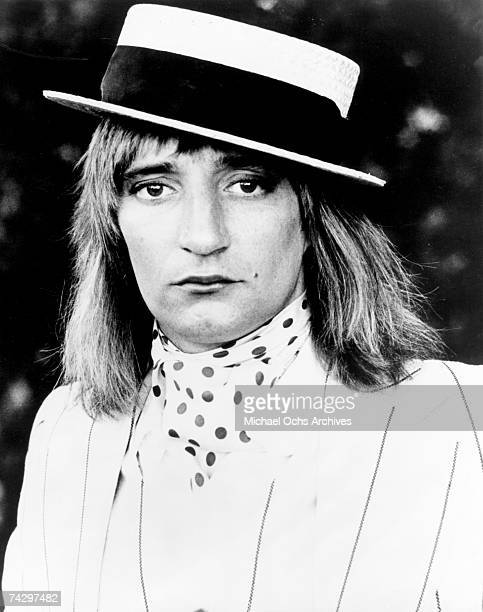 Rock singer Rod Stewart poses for a portrait in circa 1972