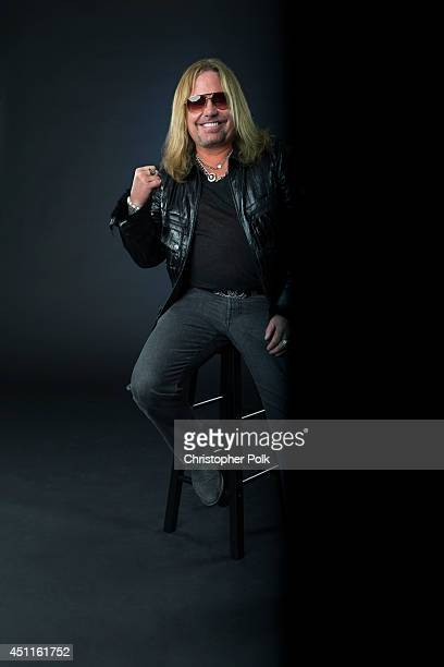 Rock singer Vince Neil is photographed at the CMT Music Awards Wonderwall portrait studio on June 4 2014 in Nashville Tennessee