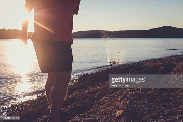 rock skipping - tulsa ストックフォトと画像