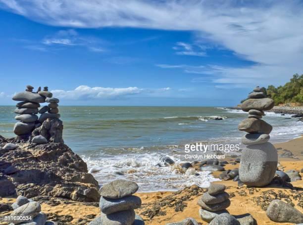 Rock Stacks on beach north of Cairns, Queensland.