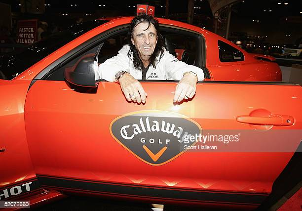Rock star Alice Cooper appears at the Callaway Golf booth during the 2005 PGA Merchandise Show at the Orange County Convention Center on January 27...