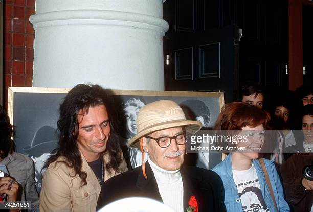 Rock star Alice Cooper attends an event celebrating the films of the Marx Brothers with Groucho Marx and his long term companion Erin Fleming in Los...