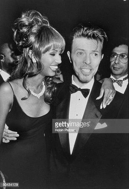 Rock star David Bowie and wife model Iman at the 13th Annual Council of Fashion Designers of America awards